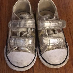 Toddler gold converse, well loved